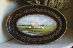 Electronics, Cars, Fashion, Collectibles, Coupons and Country Farmhouse Decor, Farmhouse Chic, Painted Trays, Hand Painted, English Country Cottages, Country Houses, Country French, Country Life, English Decor