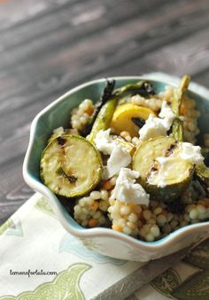 Grilled Vegetable and Couscous Salad ~ A perfectly light and flavorful salad with grilled veggies, couscous and a simple vinaigrette!