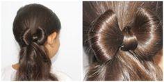 penteado de cabelo com laço cabelo infantil