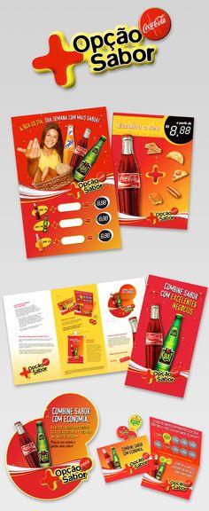 Material de PDV - Coca-Cola - Opcão + Sabor