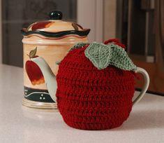 Olde Time Apple Teapot Cozy crochet pattern $4.00 on Crochet Memories at http://www.crochetmemories.com/patterns/olde-time-apple-teapot-cozy.php