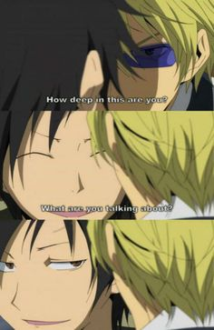 Lol, loved their bromance! #Durarara!!