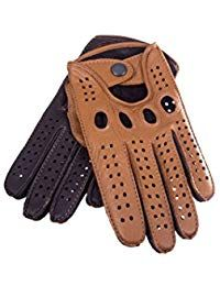 1bb6e45277206 Men's Driving Gloves Deerskin Leather Dark Brown Tan by Hungant  #lederhandschuhe #autohandschuhe #winterhandschuhe