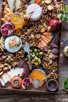 Say hello to your new favorite holiday Cheese Board. As if Party Mix wasn't already addicting enough, I made it a key player in my cheese board. Homemade Chex mix and all the chees… Plateau Charcuterie, Charcuterie And Cheese Board, Cheese Boards, Party Food Platters, Cheese Platters, Tapas, Chex Party Mix, Chex Mix, Fingerfood Party