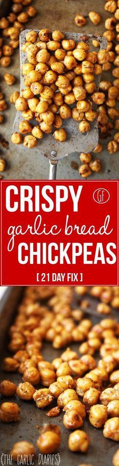 Crispy Garlic Bread Chickpeas-21 Day Fix