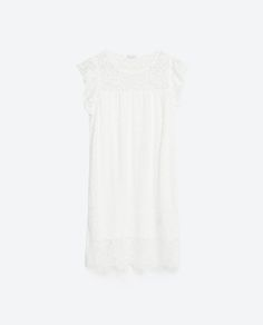 Image 6 of GUIPURE LACE FRILLED DRESS from Zara