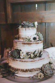 Floral Wedding Cakes, Wedding Cake Rustic, Wedding Topper, Wedding Cake Designs, Winter Wedding Cakes, Nature Wedding Cakes, Succulent Wedding Cakes, Country Wedding Cakes, Green Wedding Cakes