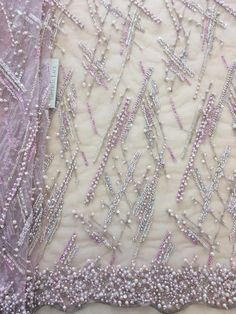 Beaded lace elegent wedding lace fabric with beads guipure lace french lace for wedding dress Beaded Lace Fabric, Fabric Beads, Tulle Fabric, Embroidered Lace, Floral Fabric, Couture Embroidery, Floral Embroidery, Beaded Embroidery, Embroidery Patterns