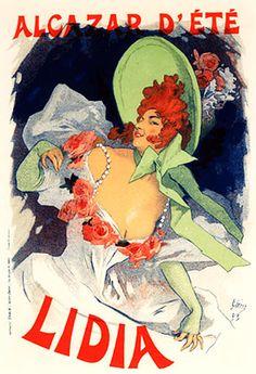 Lidia. Jules Cheret (1895)