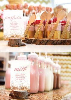 *****  PARTY DETAILS as told by Jennifer… : I've been in love withthe pink and gold color scheme for a while and knew I wanted to usethis ...