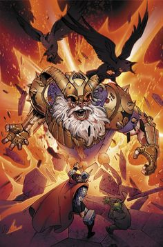 Father and son issues Marvel Works 2012 by Pepe Larraz, via Behance Comic Book Characters, Marvel Characters, Comic Books Art, Comic Art, Marvel Comics Art, Marvel Vs, Marvel Heroes, Thor Vs Odin, Marvel Universe