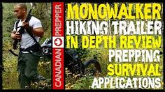 How to make/DIY: Review FETBOB 1.0 Monowalker, Hiking Trailer, Pilgerwagen - YouTube
