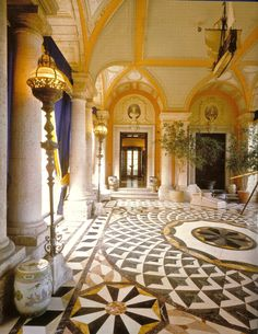 The marble floors at Vizcaya in east loggia are of the best quality.