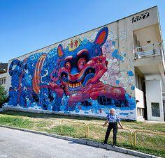 Aryz New Mural In Kosice, Slovakia