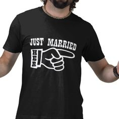 Just married Her. A cool shirt for the groom to wear at the reception or on his honeymoon