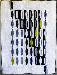 "Sara Kelly Art Quilts: Solid Attempt 60"" x 60"" and Leaf Pods 44"" x 59"""