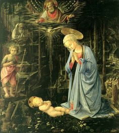 Fra Filippo Lippi - Adoration in the forest