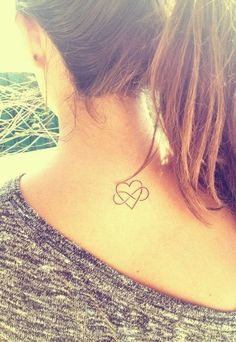 Lovely Heart and Infinity Tattoo for Girls.