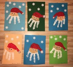 MIKULÁS KÉZLENYOMATTAL Christmas Crafts For Kids, Xmas Crafts, Little Christmas, White Christmas, Diy And Crafts, Advent, Kindergarten Activities, Holidays And Events, Kids And Parenting