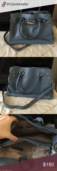 Micheal Korea blue handbag Wore couple of times! Still in great condition:) feel free to make an offer💕 Michael Kors Bags Shoulder Bags