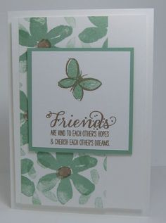 , Stampin up, Karte, Garden in Bloom Scrapbooking, Scrapbook Cards, Butterfly Cards, Flower Cards, Stampin Up Catalog, Friendship Cards, Stamping Up Cards, Cards For Friends, Cute Cards
