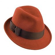 Christys Hats Daphne Trilby Hat - Burnt Orange