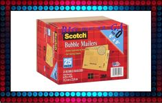 """25Pk Scotch Bubble Mailers - Size 0 (6"""" x 9"""") New!! #Business #Industrial #Material #Handling #7913-25-CLDB"""
