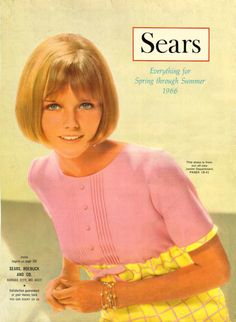 19 year old Cheryl Tiegs modeling for the Sears catalog,1966