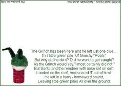 Christmas Grinch Poop Poem and Bag Tag #1: Printable Grinch Poop Poem Tag