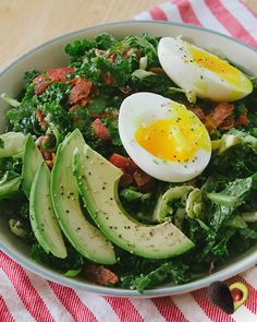 BLT Breakfast salad with soft boiled eggs and avocado | Australian Avocados