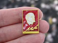 Vintage Soviet Lenin pin soviet Communist propoganda red Soviet USSR vintage pin badge history Lenin communism rare collectible Soviet pin