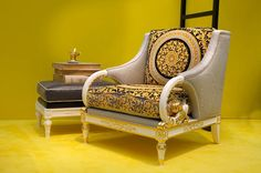 The Vanitas Living chair from Versace Home Collection 2012 Casa Versace, Versace Home, Gianni Versace, Versace Mansion, Home Decor Furniture, Sofa Furniture, Versace Furniture, Beautiful Interior Design, Futuristic Furniture