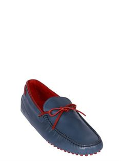 TOD'S FERRARI - GOMMINO 122 TIE LEATHER DRIVING SHOES
