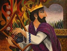 King David playing the lyre (not in lectionary but I like it :-))