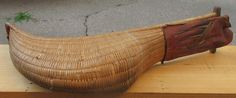 """Offering for sale is this vintage authentic game used Jai Alai Cesta wicker rattan catcher scoop with leather glove. The vintage sporting tool appears to be handmade, shows age patina and has illegiable writing on leather glove and on opposite side. The tip of the Cestra has been crudely mended and some of the rattan strips are broken. The Cestra measures 24"""" overall length and what you see is what you are going to get so please ask questions if need be."""