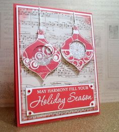 Christmas card with shaker ornaments!  :)