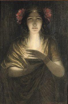 Louis Welden Hawkins (French, 1849-1910). The Priestess