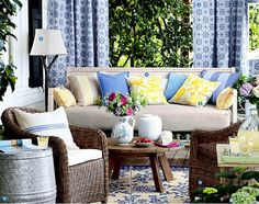 Navy and Yellow Summer Decor Inspiration