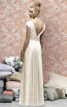 Unique Ivory Bridesmaid Dress BNNAH0098-Bridesmaid UK