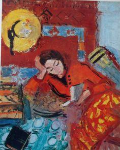 Interior with a Woman (1941).Alexandru Ciucurencu (Romanian, 1903-1977).