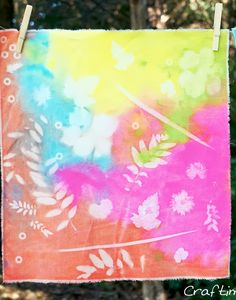 DIY Easy Sun Prints! The kids will love this project!!!