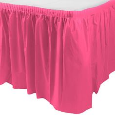 "Bright Pink Table Skirt | 1ct, 29"""" x 168"""""