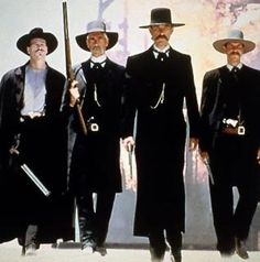 A great Tombstone movie poster! Kurt Russell, Val Kilmer, Sam Elliott, and Bill Paxton star as Wyatt Earp and his posse! Justice is coming. Val Kilmer, Tombstone 1993, Tombstone Movie, Tombstone Arizona, Tombstone Quotes, Westerns, See Movie, Movie Tv, Actor