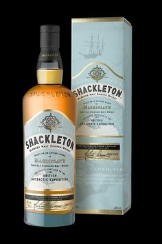 Shackleton on Packaging of the World - Creative Package Design Gallery Scotch Whisky, Malt Whisky, Wine Design, Bottle Design, Label Design, Design Packaging, Design Design, Graphic Design, Beverage Packaging