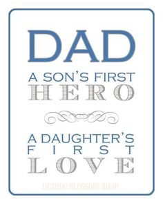 Pop it into a frame and you have a gift for Father's Day.