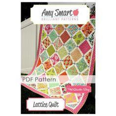 Lattice Downloadable PDF Quilt Pattern Amy Smart Brilliant Patterns