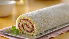 Jelly Roll Cake - Soft, sweet, and full of jam, this sponge cake is easy to roll and makes for a simple yet impressive dessert!