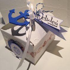 Mini boxes per confetti bomboniere handmade con envelope punch board <3