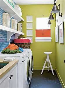 "This is another post in my ""My Dream Home"" series: laundry room design on a budget. Here are 8 DIY examples of pretty laundry room ideas anyone can create. Laundry Room Colors, Laundry Room Design, Laundry Rooms, Small Laundry, Laundry Area, Basement Laundry, Bathroom Laundry, Small Bathroom, Laundry Room Inspiration"