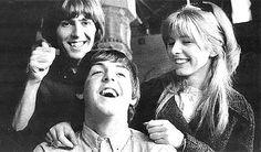 George Harrison, Paul McCartney, and Jane Asher
